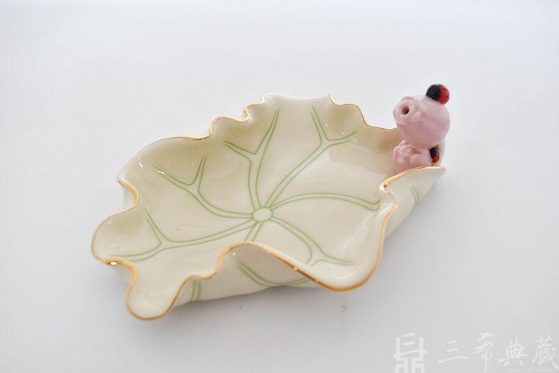 陶瓷荷葉香盤